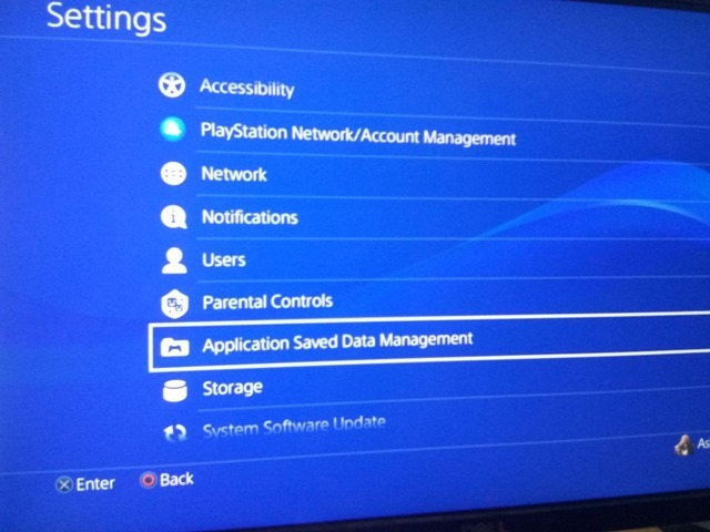 Sony PS4 Settings