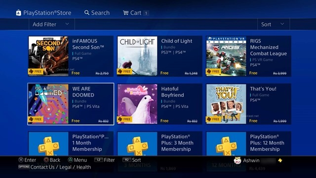 Sony PS Plus September 2017 monthly free games