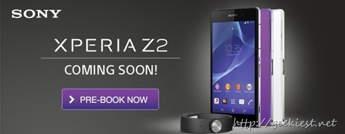 Sony Xperia Z2 available for Pre-booking