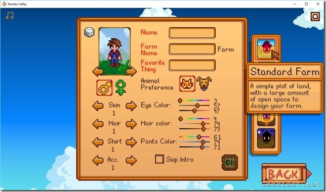 Stardew valley Standard Farm