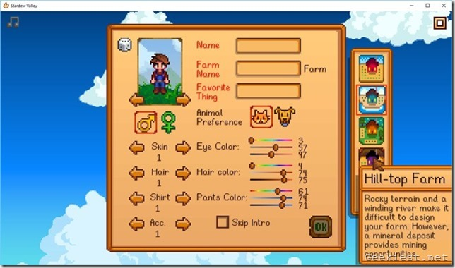 Stardew valley hilltop Farm