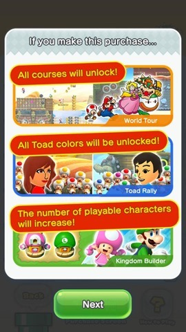 Super Mario Run IAP bonus