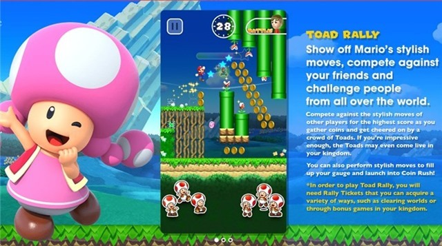 Super Mario Run Toad Rally