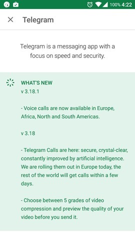 Telegram Voice Calls North  South America Africa