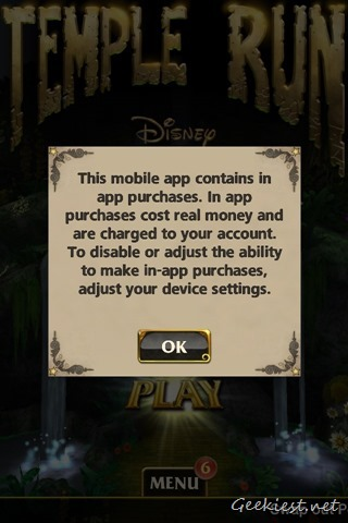 Temple Run Oz In App Purchases