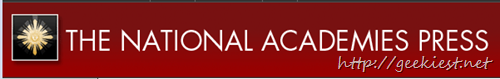 The national Academies Press Free ebooks
