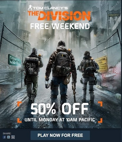 The Division free to play weekend