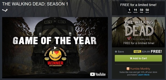 The Walking Dead Season 1 game free