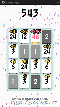 Threes for Windows Phone Screenshot- 12