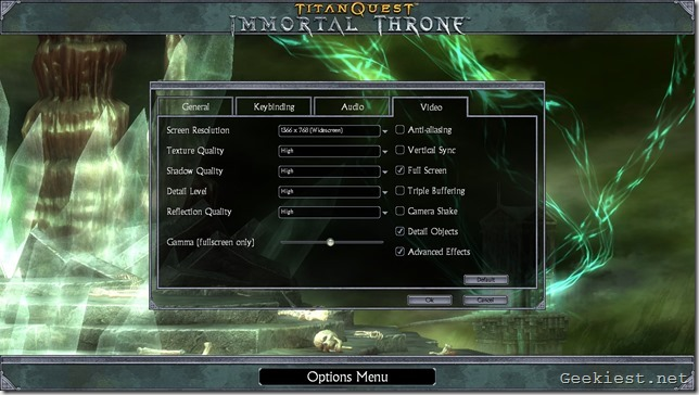 Titan Quest Old Settings