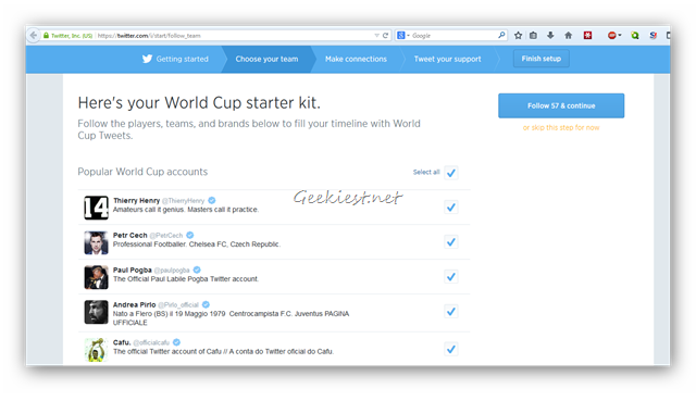 Twitter WC Popular Football Accounts
