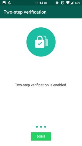 Two-Step Verification in WhatsApp 5