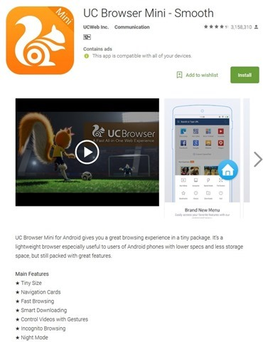 UC browser banned from Google Play Store