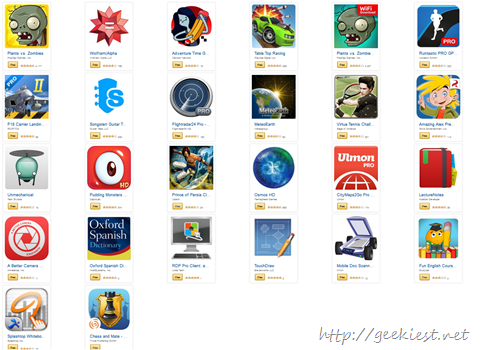 USD105 worth games and Apps free for Android devices
