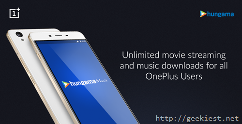 Unlimited movie streaming OnePlus-India-Hungama