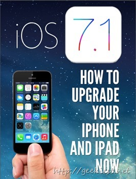 Upgrade your iPhone and iPad