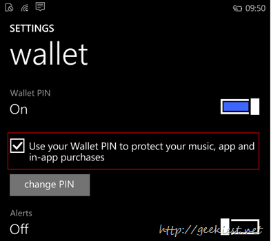 Use Wallet PIN to protect music, app and in-app purchases