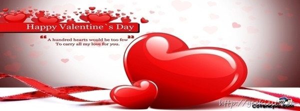 Valentines Day Facebook cover  3