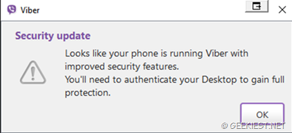 Viber improved security