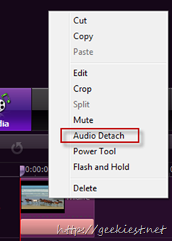 Video Editor Audio Detach