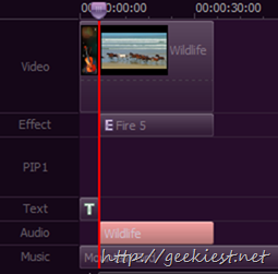 Video Editor Timeline screen