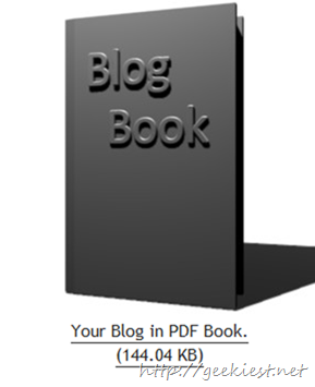 Wait and  save your blog as PDF