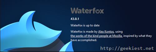 Waterfox Browser by Alex Kontos