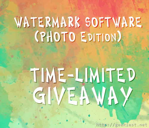 Watermark Software Photo Edition giveaway