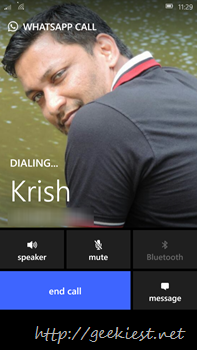 WhatsApp Call is now available for Windows Phone users