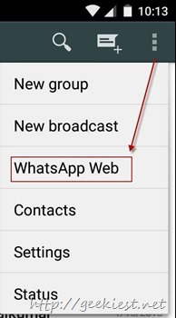 Whatsapp Web - Android