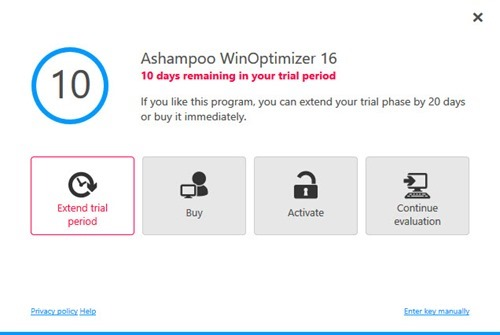WinOptimizer 16- Free Trial extendend
