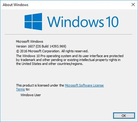 Windows 10 1607 Anniversary Update