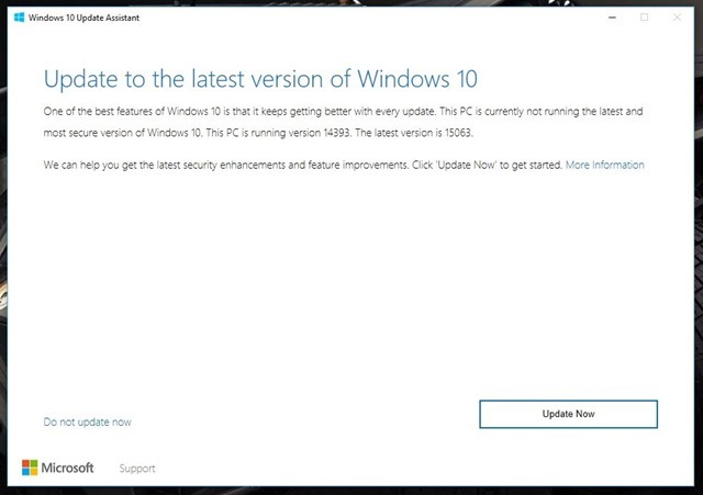 Windows 10 Creators Update download 2