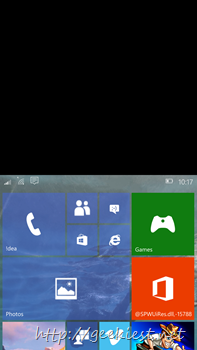 Windows 10 mobile preview one hand operation