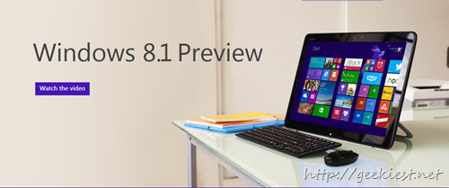 Windows 8.1 Preview is available