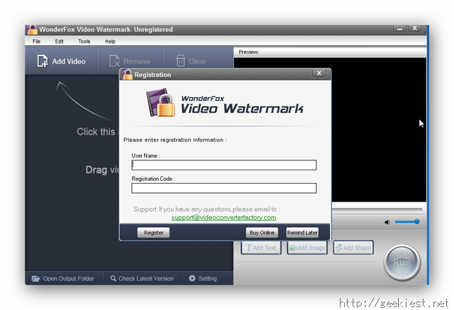 Wonderfox Video Watermark Unregistered
