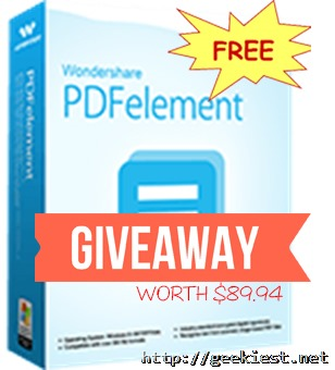 Wondershare PDF element full version license giveaway