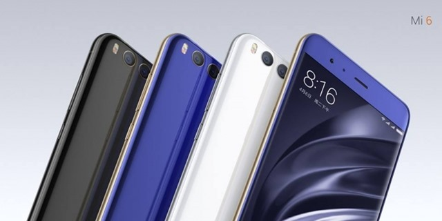 Xiaomi Mi 6 official colours