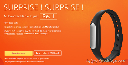 Xiaomi Mi Band registration open– You may get it for INR 1