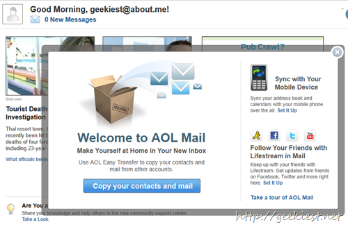 about me aol email
