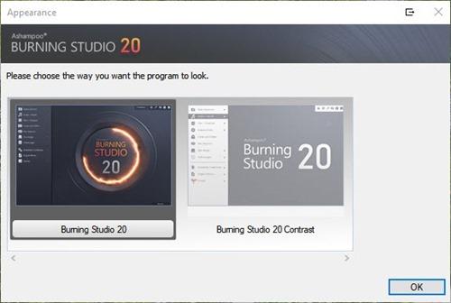 burning studio 20 interface theme