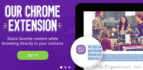 chrome extension for Viber