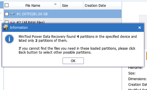 deep scan partitions recovery
