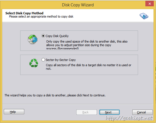 disk copy wizard