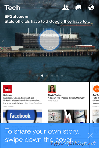 facebook Paper for iOS 8