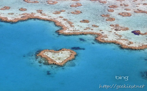 Heart Reef, part of the Great Barrier Reef in Queensland, Australia