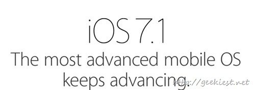 iOS 7.1–Update your Devices