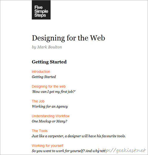 Designing for the Web by Mark Boulton
