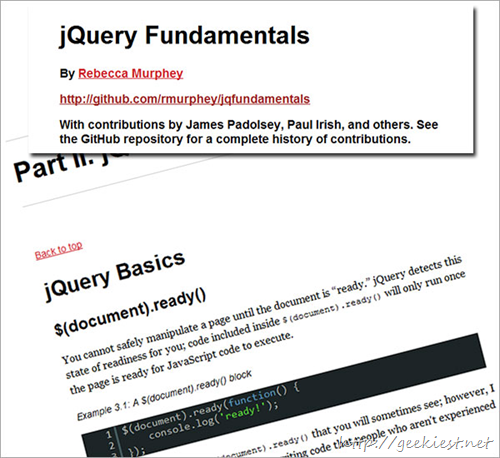 jQuery Fundamentals by Rebecca Murphey