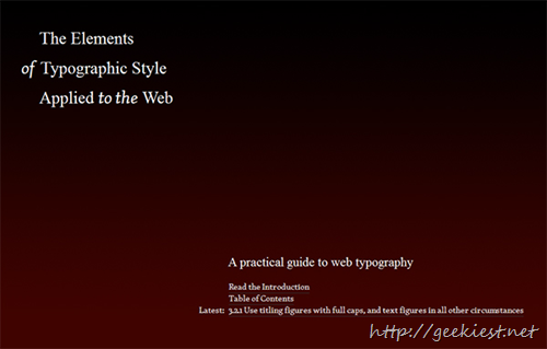 The Elements of Typographic Style Applied to the Web by Robert Bringhurst